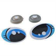 Galantéria - Bezpečnostné očká veľké s mihalnicami - 6217496_