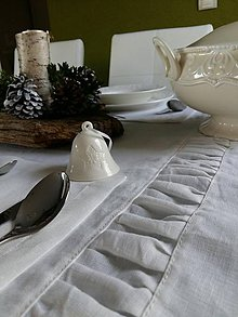 Úžitkový textil - Ľanový obrus Dreaming - 6215763_