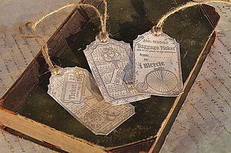 Papiernictvo - Vintage visačky - 6218582_
