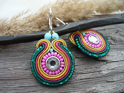 148f08aeb Soutache náušnice Colors of India / CreativeNicol - SAShE.sk ...