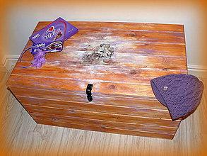Nábytok - Obrovská truhla na želanie so zamykaním :) - 6218309_