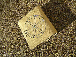 Peňaženky - Peňaženka krémová - 6218671_