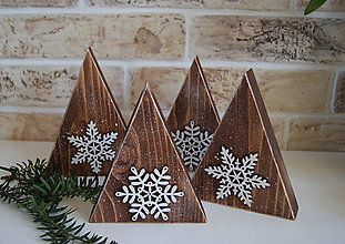 Dekorácie - Rustikálne zimné stromčeky - 6217932_