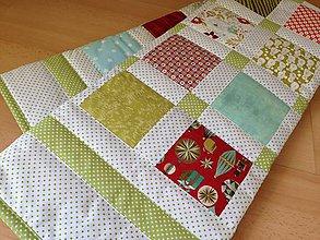 Úžitkový textil - ***A k c i a*** Červeno - zelená detská deka - 6219204_