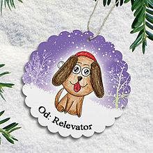 Papiernictvo - Pes v snehu - menovka na darček - 6217859_
