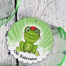 Papiernictvo - Žabka v snehu - menovka na darček - 6219255_