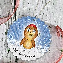 Papiernictvo - Vtáčik v snehu - menovka na darček - 6219256_