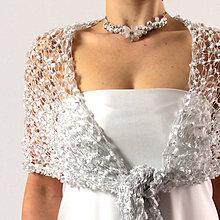 Šály - Úplňková přání | čipkovaný svatební šál - 6221083_