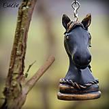 Kľúčenky - Black Knight - kľúčenka s šachovou figúrkou (kôň) - 6220321_