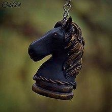 Kľúčenky - Black Knight - kľúčenka s šachovou figúrkou (kôň) - 6220318_