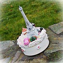 Krabičky - Paris - krabica na koláčiky - 6220354_