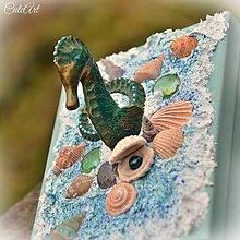 Krabičky - Strážca perly - šperkovnica s morským koníkom - 6220489_