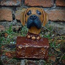 Socha - Oči plné lásky - busta psíka podľa fotografie - 6220532_