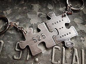 Kľúčenky - PUZZLE / 2mm hrúbka / cena za 2ks - 6223865_