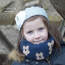 Detské čiapky - Háčkovaná čelenka na ušká ...
