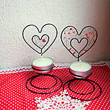 Svietidlá a sviečky - svietnik srdiečko - 6222418_