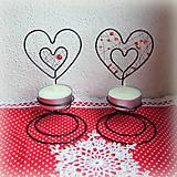 Svietidlá a sviečky - svietnik srdiečko - 6222419_