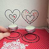 Svietidlá a sviečky - svietnik srdiečko - 6222422_