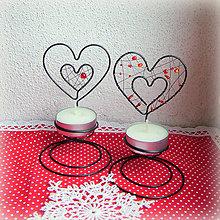 Svietidlá a sviečky - svietnik srdiečko - 6222420_