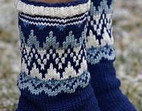 Obuv - Nórske merino ponožky so špicmi I. - 6223479_