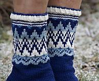 Obuv - Nórske merino ponožky so špicmi I. - 6223480_