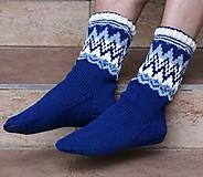 Obuv - Nórske merino ponožky so špicmi I. - 6223487_