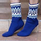 Obuv - Nórske merino ponožky so špicmi I. - 6223494_