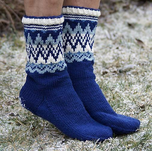 Nórske merino ponožky so špicmi I.