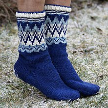 Obuv - Nórske merino ponožky so špicmi I. - 6223486_
