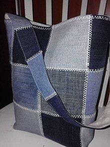 Kabelky - Kabelka-jeans patchwork - 6223692_