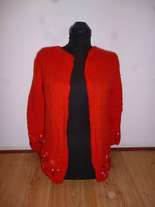 874245a6ccc7 Červený dievčenský alebo dámsky sveter.   annate - SAShE.sk ...