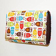 Peňaženky - peněženka Mini Owl 13cm - 6222463_
