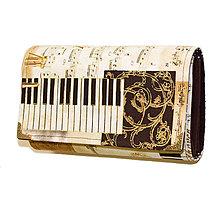 Peňaženky - peněženka Musical 16cm - 6222478_