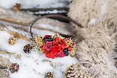 """Ozdoby do vlasov - Čelenka """"vianočná ruža"""" - 6223583_"""