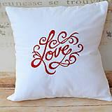 Úžitkový textil - Love - 6223452_