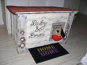 Pre zvieratká - Zateplená Vintage búdka pre psov :) - 6223669_