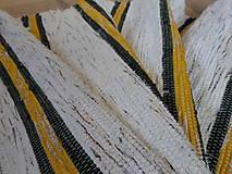 Úžitkový textil - Koberec so žiarivo žltými pásmi 140x74cm - 6222944_