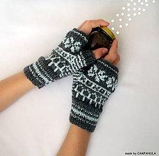 Rukavice - Rukavičky s belasým nórskym vzorom - 6226929_