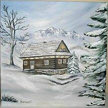 Obrazy - dreveničky v zime 2 - 6226821_