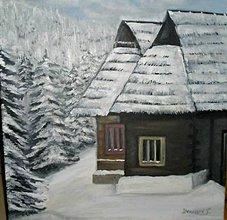 Obrazy - dreveničky v zime 1 - 6226839_