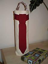 Úžitkový textil - Taštička na fľašku - 6226176_