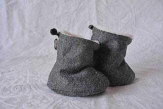 Topánočky - Softshellové termo čižmičky - melir.sivá - 6224909_