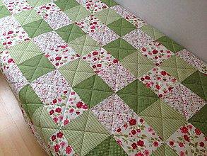 Úžitkový textil - Malinovo - mätová veľká deka - 6225646_