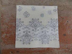 Papier - srieborný vzor - malé - 6224424_