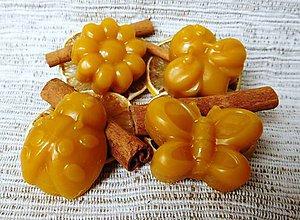 Svietidlá a sviečky - Včelí vonný vosk - škorica - 6229954_