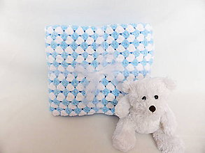 Textil - Modro-biely obláčik - 6229096_