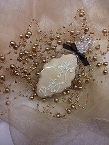 Darčeky pre svadobčanov - Svadobný medovníček - 6230129_