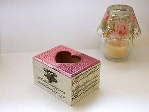 Krabičky - Srdiečková šperkovnica - 6229871_