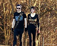 Tričká - Dámske a pánske tričká párové s fujarou a píšťalkou maľované SPEVAVO - 6227680_