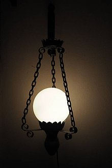 Svietidlá a sviečky - Nástenná lampa kovová - 6228213_